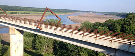 High Trestle Trail Bridge near Madrid