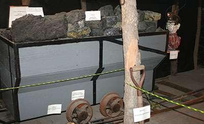 Coal mine replica